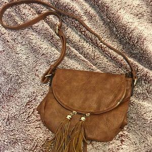 Handbags - NWOT cognac purse